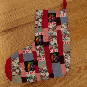 Vintage Holiday Patchwork Christmas Stocking